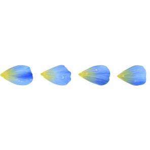 Washi Sticker - Blüten Blau