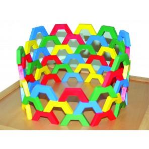 Hexagon Legespiel - Set 200