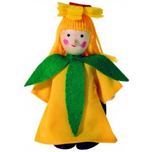 Winzling Biegepuppe - Blumenkind Gelb