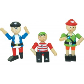 Holz Biegepuppen - Piraten