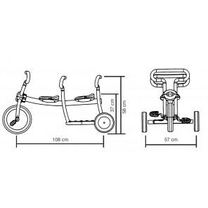 Orange Dreirad Dynamic - 2-Sitzer