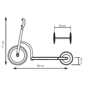 Mini Scooter Long Base Red