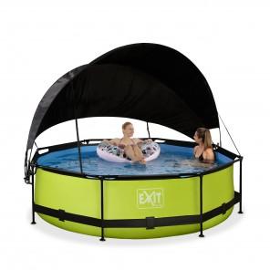 EXIT - Pool Set mit Filterpumpe & Sonnensegel - Ø 300 x 76cm